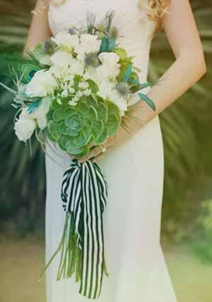 ramo de novia suculentas
