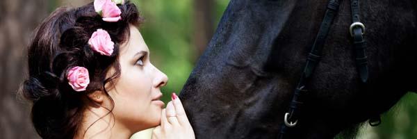 novia caballo