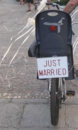 bodas en bicicleta