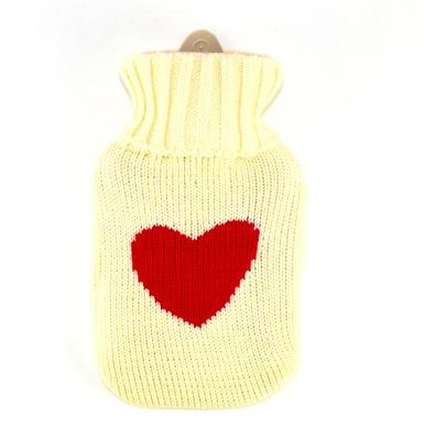 bolsa de agua de corazon y lana