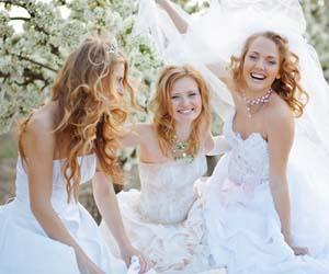 novias riendo