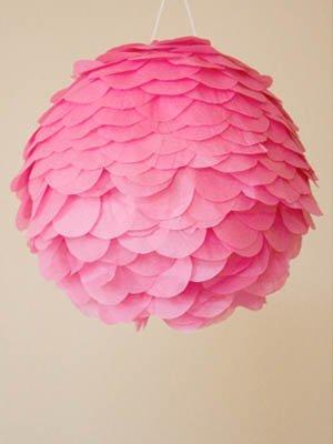lampara de papel rosa