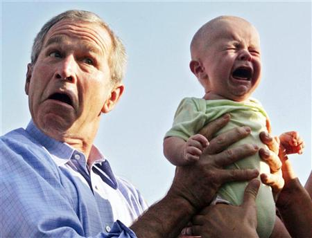 crying-baby-and-george-bush