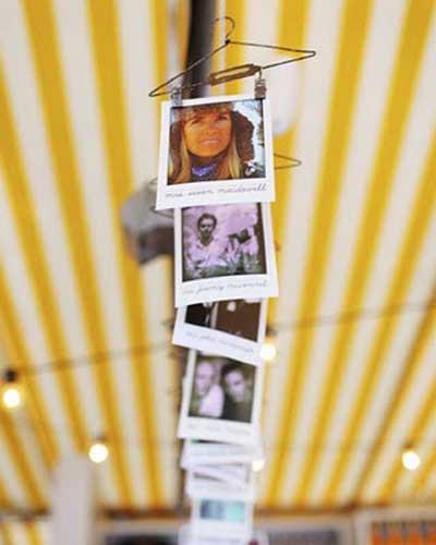 Escort Cards en fotos polaroid