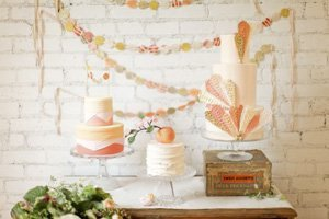 thebridesguide.marthastewartweddings.com mesa de dulces inspiración coral