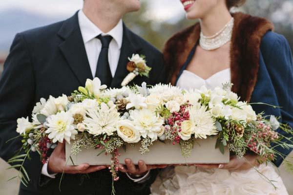 centro para boda de invierno