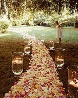 camino al banquete para boda veraniega