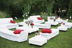 lounge para boda en verano