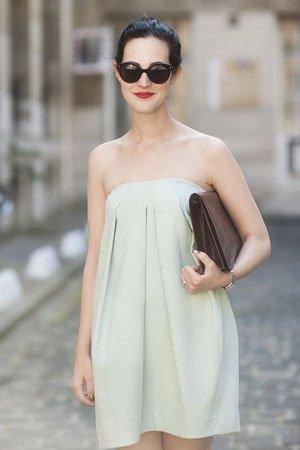 womens apareil, vestido celeste