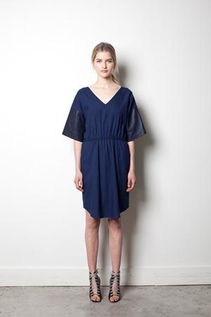 palomaire vestido azul marino