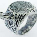 anillo tallado de amor