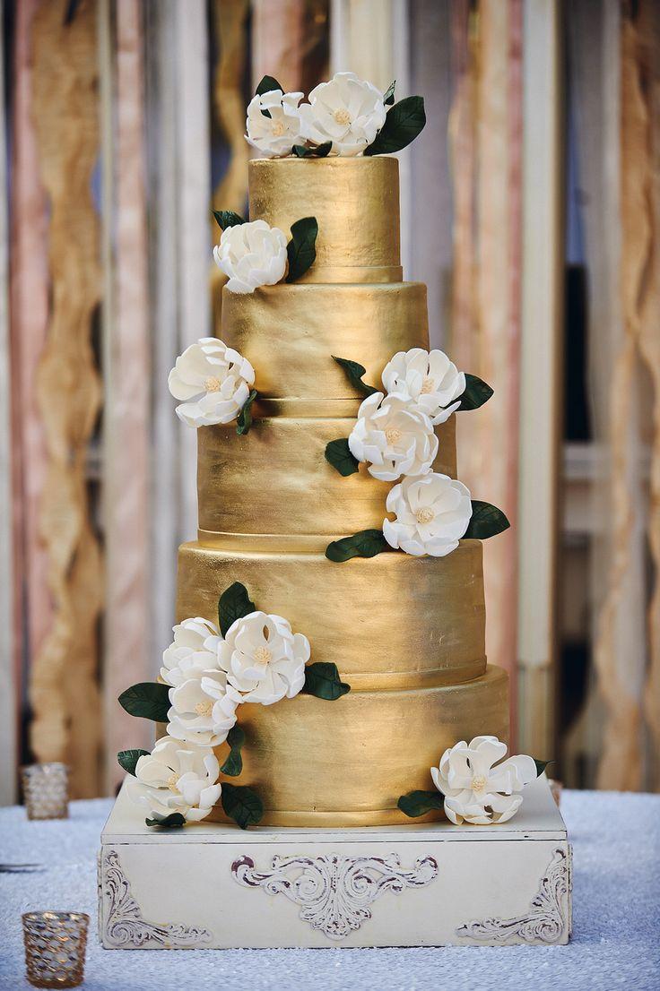 pastel-novia-dorado