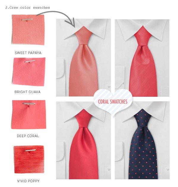 corbatas-coral
