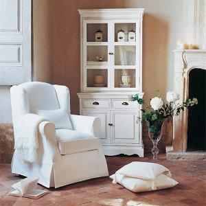 muebles en acabado blanco decapado