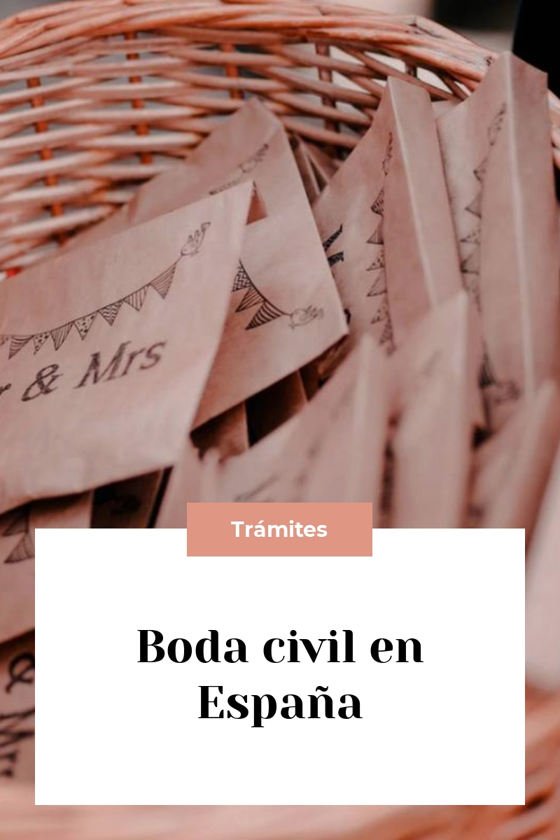 Boda civil en España