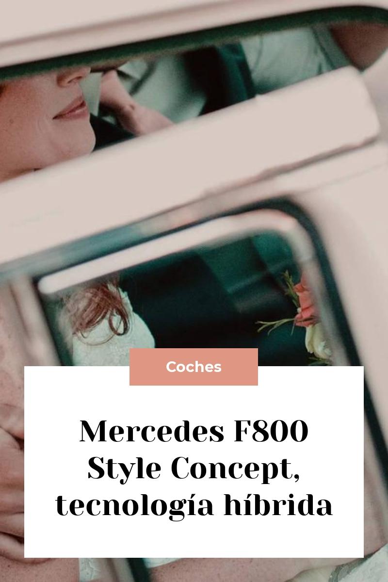 Mercedes F800 Style Concept, tecnología híbrida