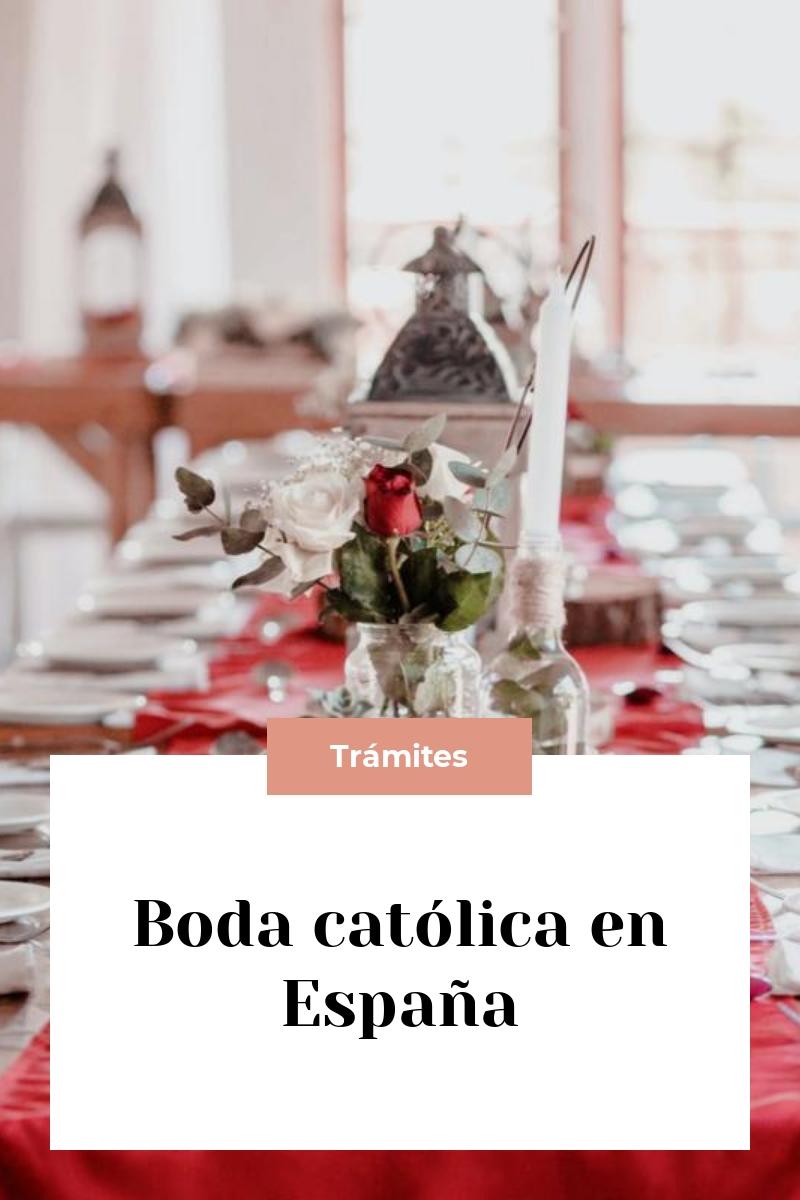 Boda católica en España