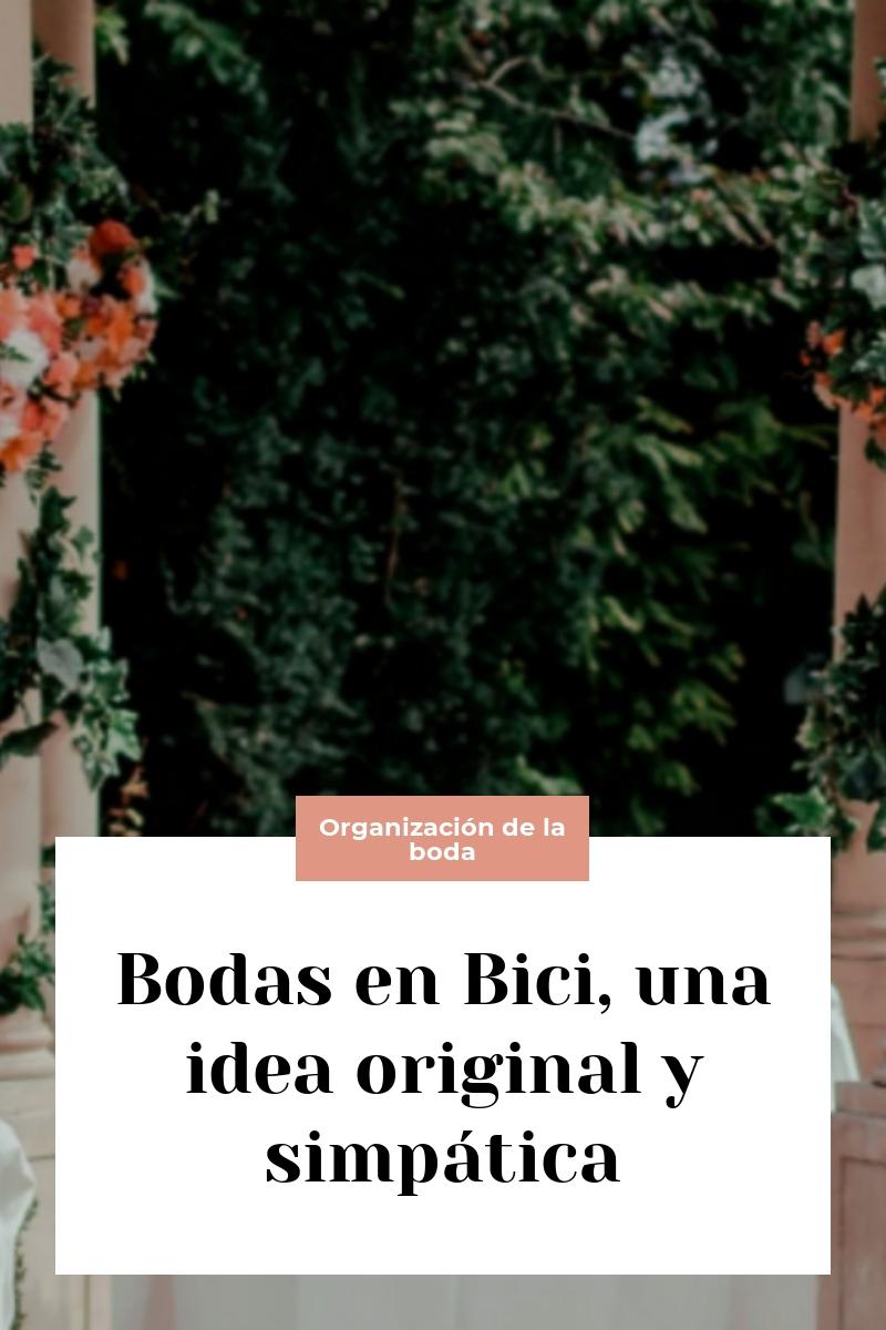 Bodas en Bici, una idea original y simpática