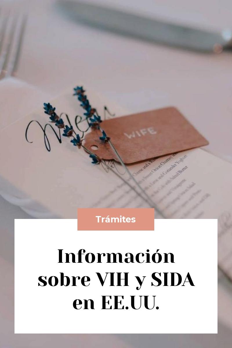 Información sobre VIH y SIDA en EE.UU.