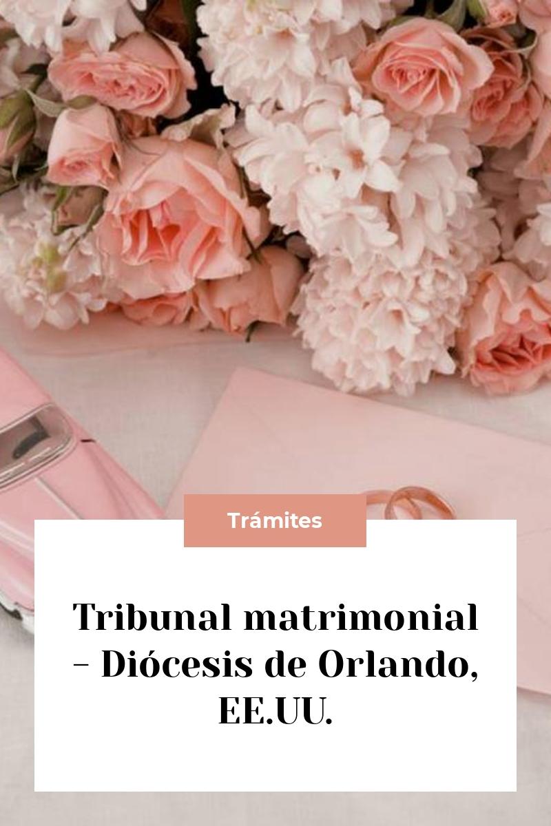 Tribunal matrimonial – Diócesis de Orlando, EE.UU.