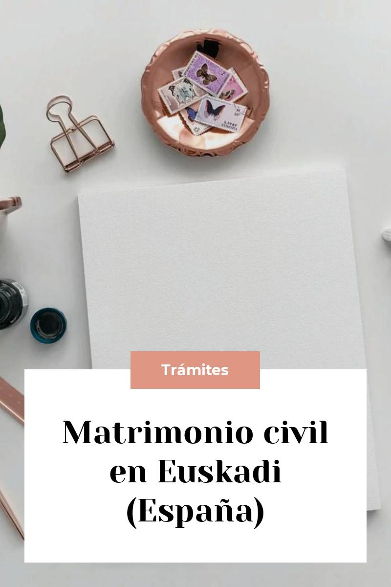 Matrimonio civil en Euskadi (España)