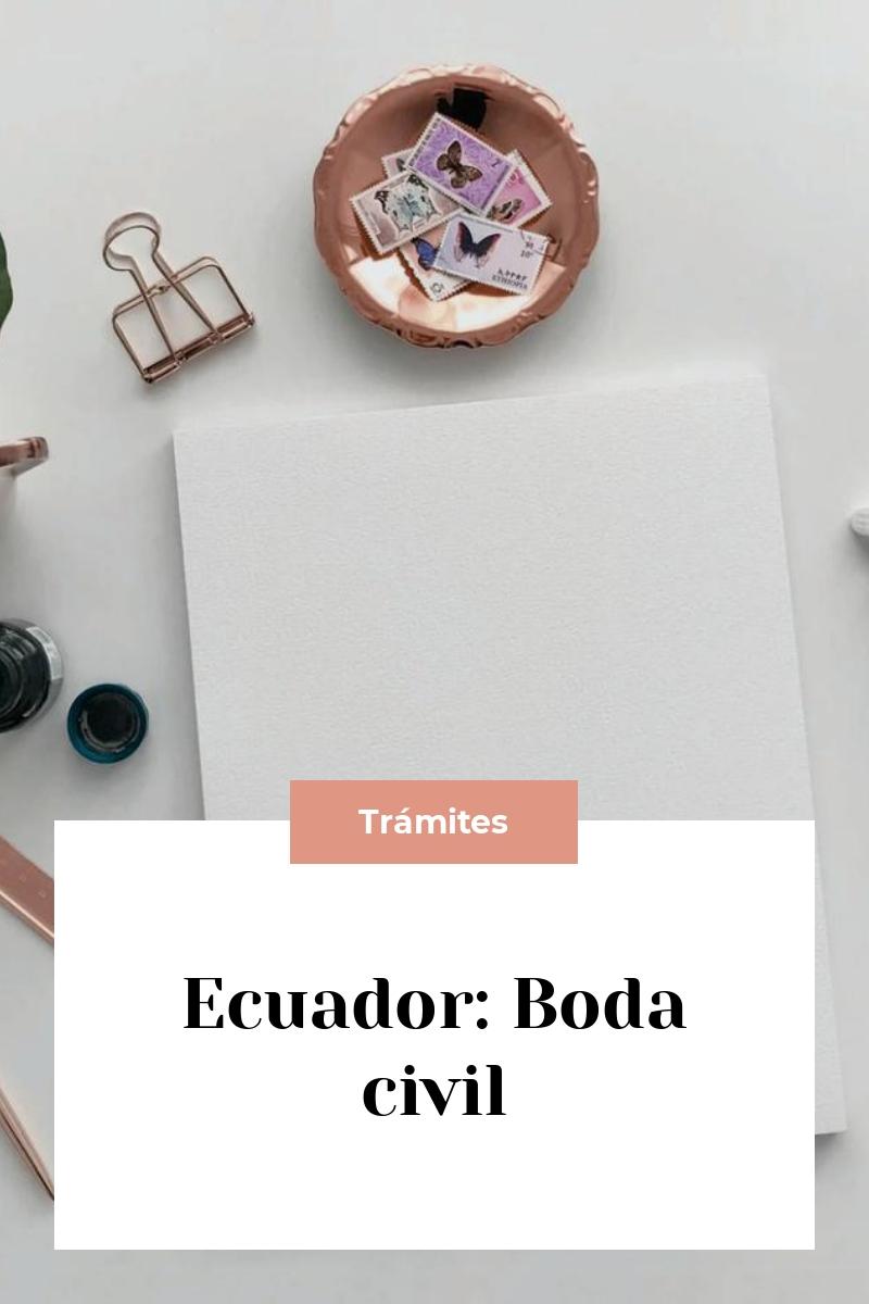 Ecuador: Boda civil