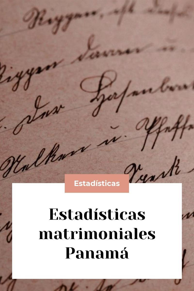 Estadísticas matrimoniales Panamá