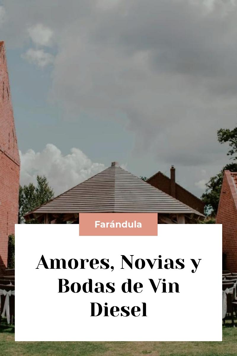 Amores, Novias y Bodas de Vin Diesel