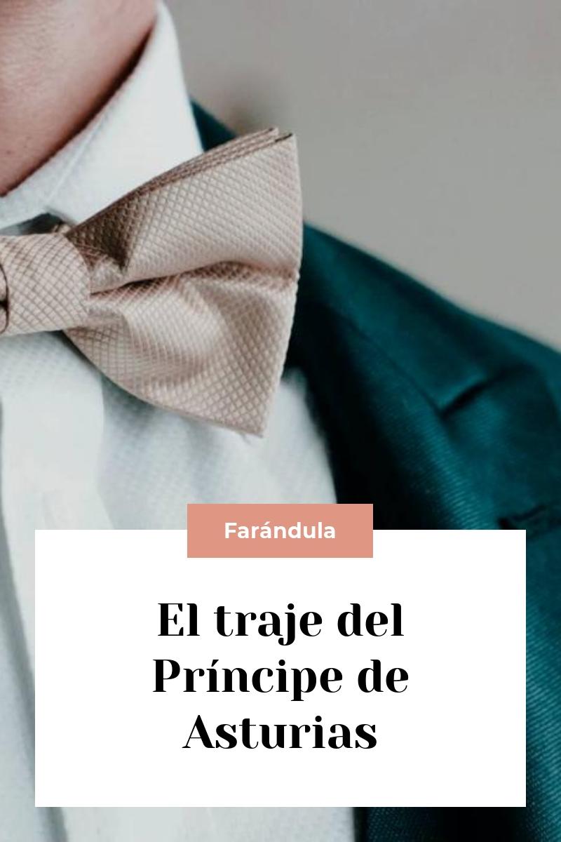 El traje del Príncipe de Asturias