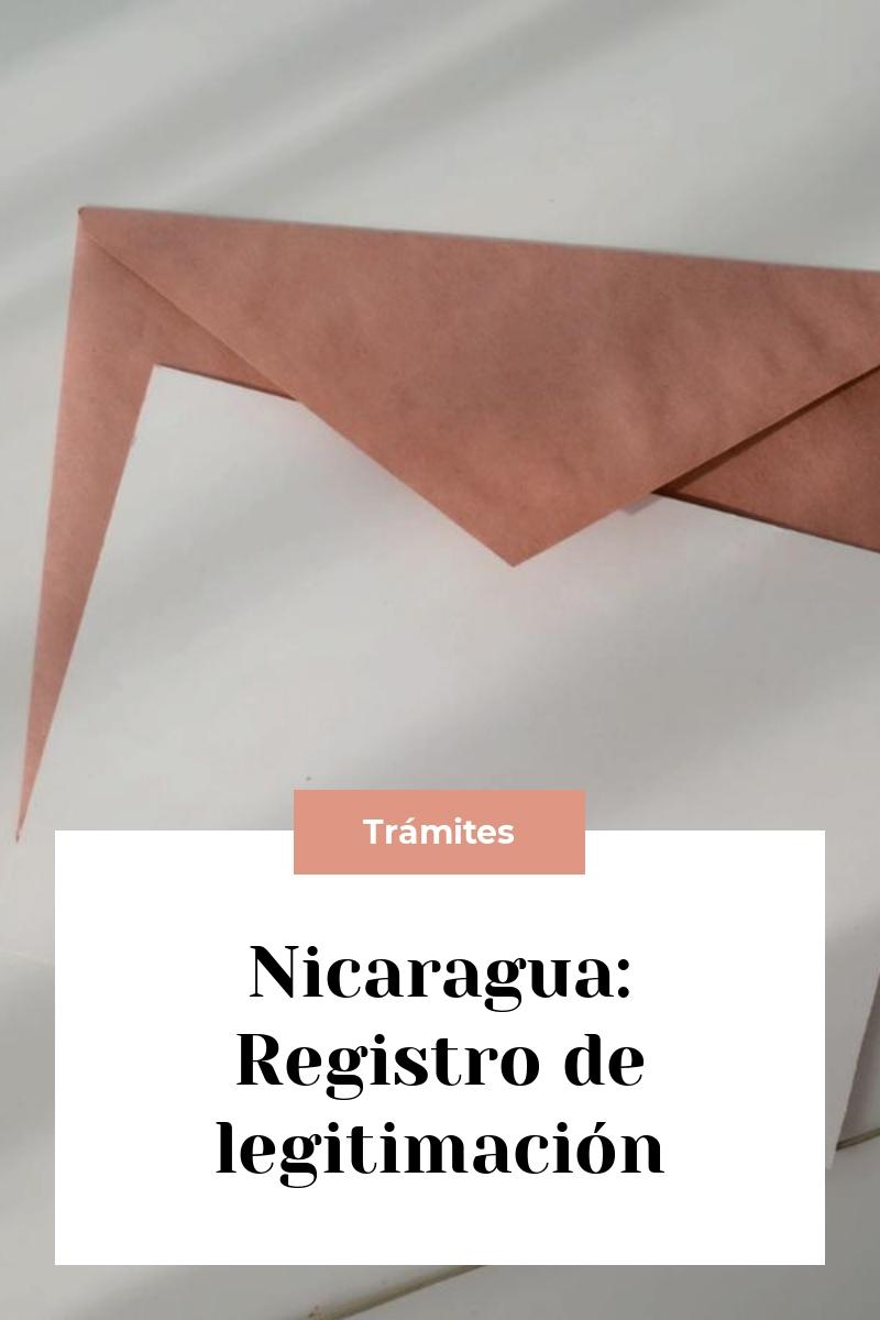 Nicaragua: Registro de legitimación
