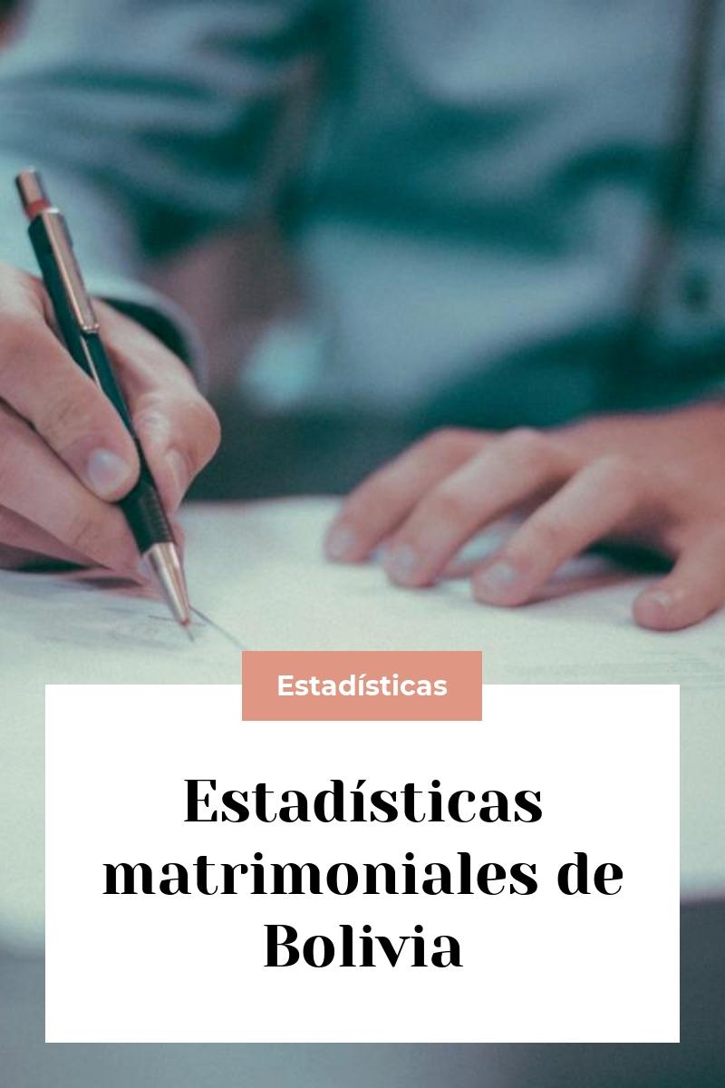 Estadísticas matrimoniales de Bolivia