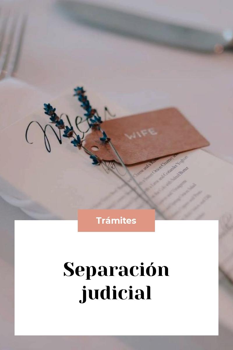 Separación judicial