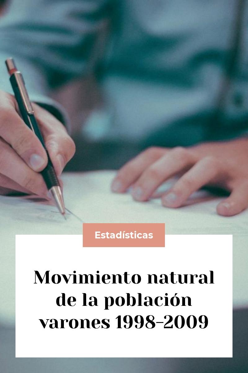 Movimiento natural de la población varones 1998-2009