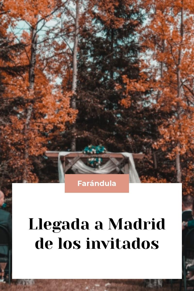 Llegada a Madrid de los invitados