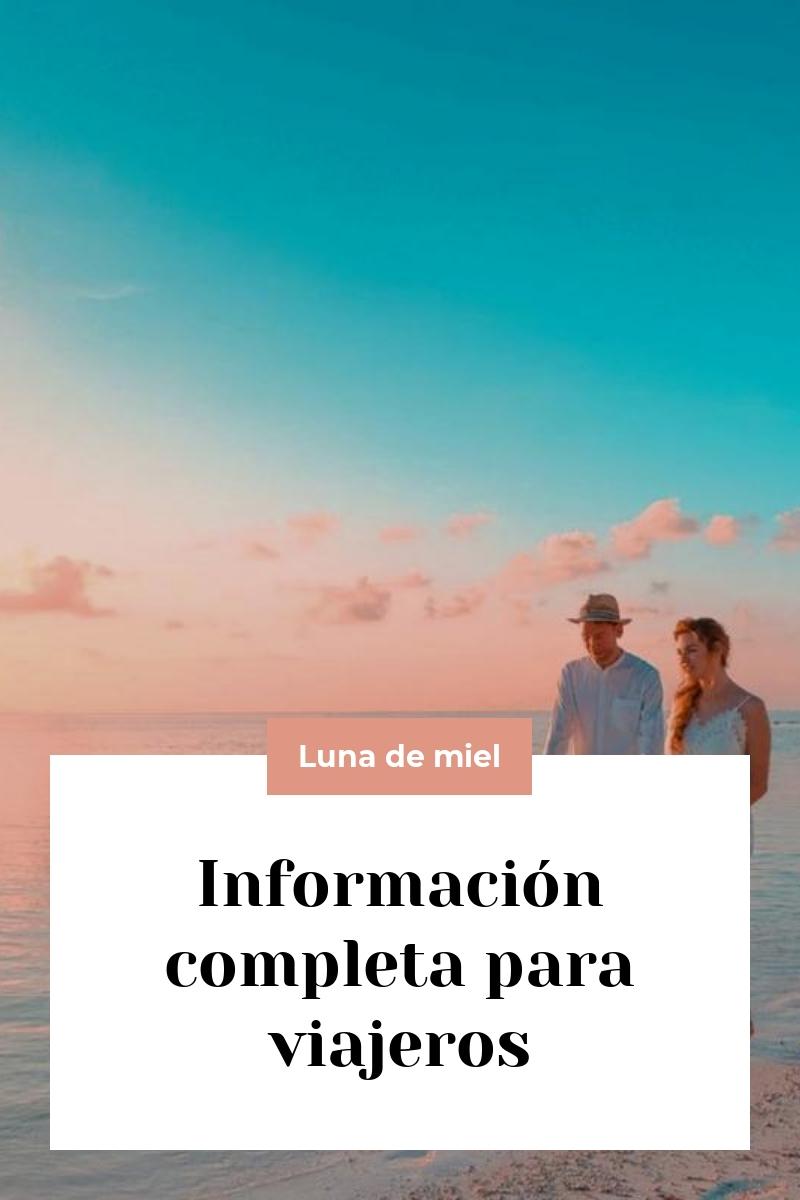 Información completa para viajeros