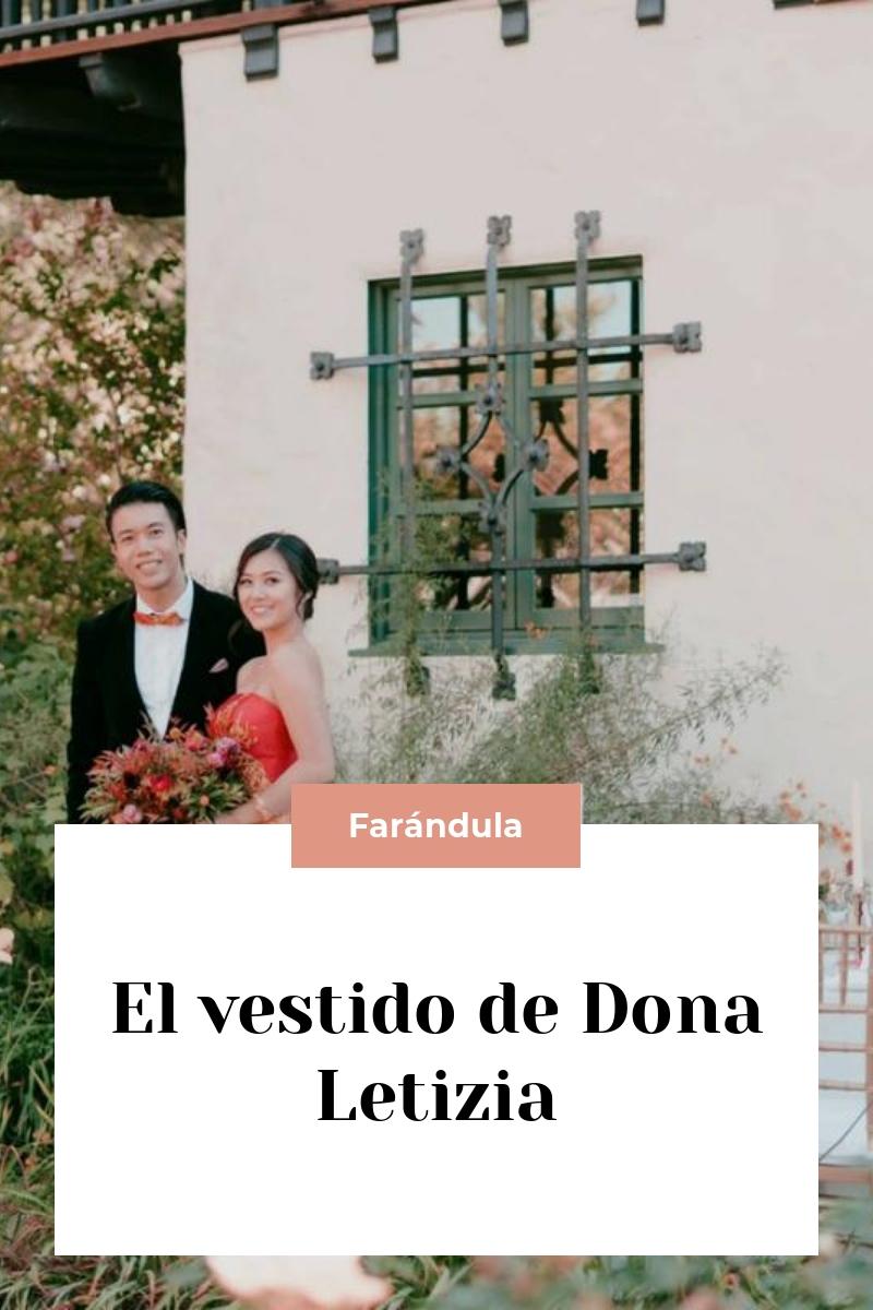El vestido de Dona Letizia
