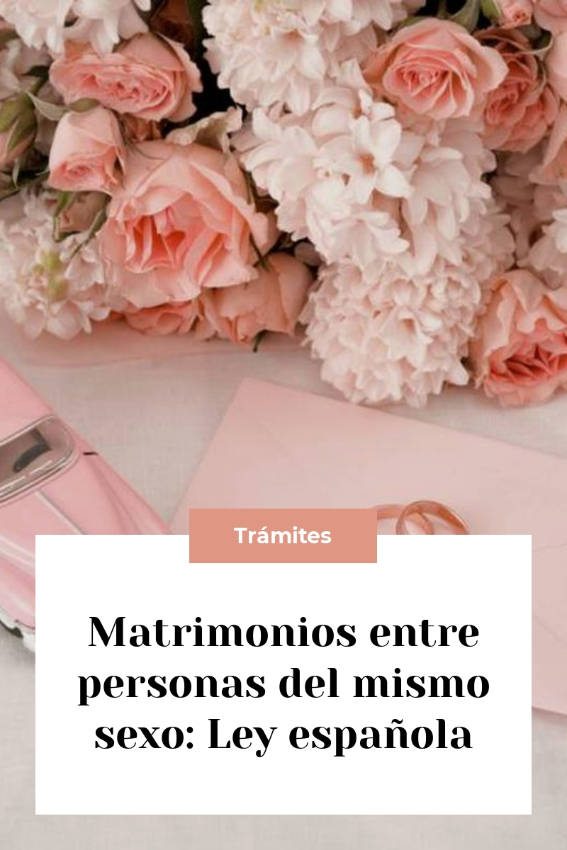 Matrimonios entre personas del mismo sexo: Ley española