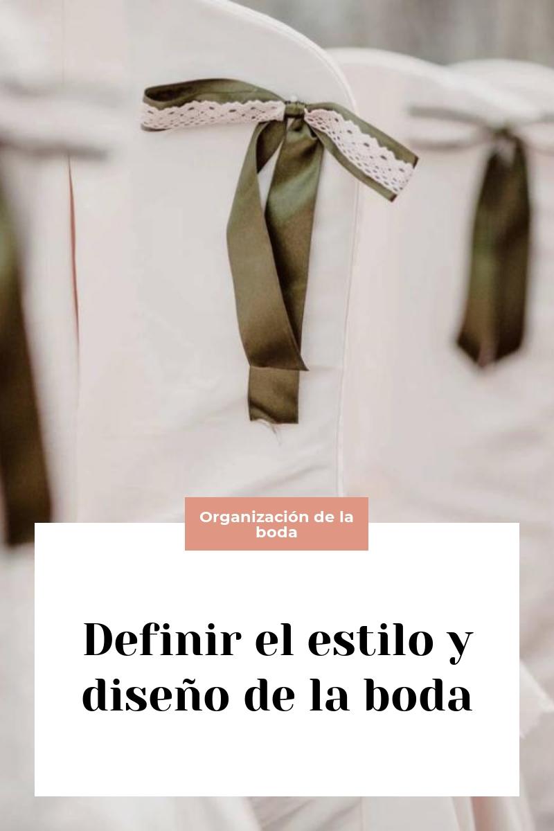 Definir el estilo y diseño de la boda