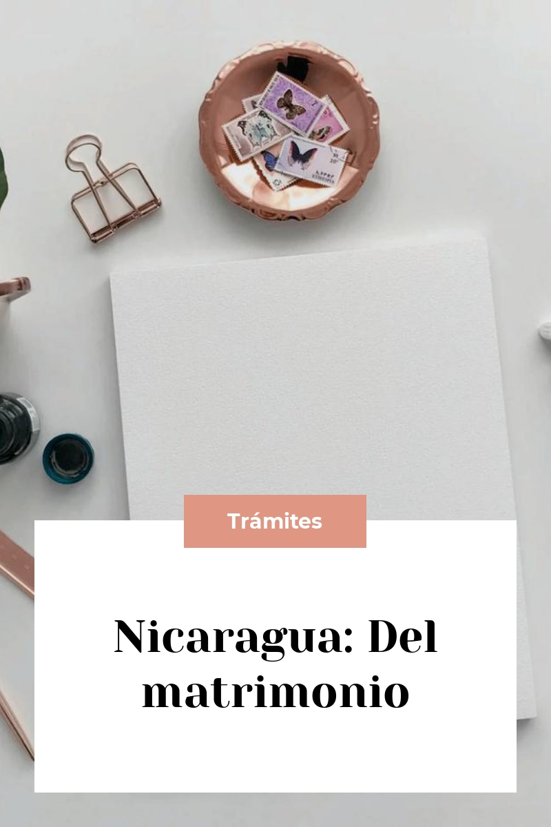 Nicaragua: Del matrimonio