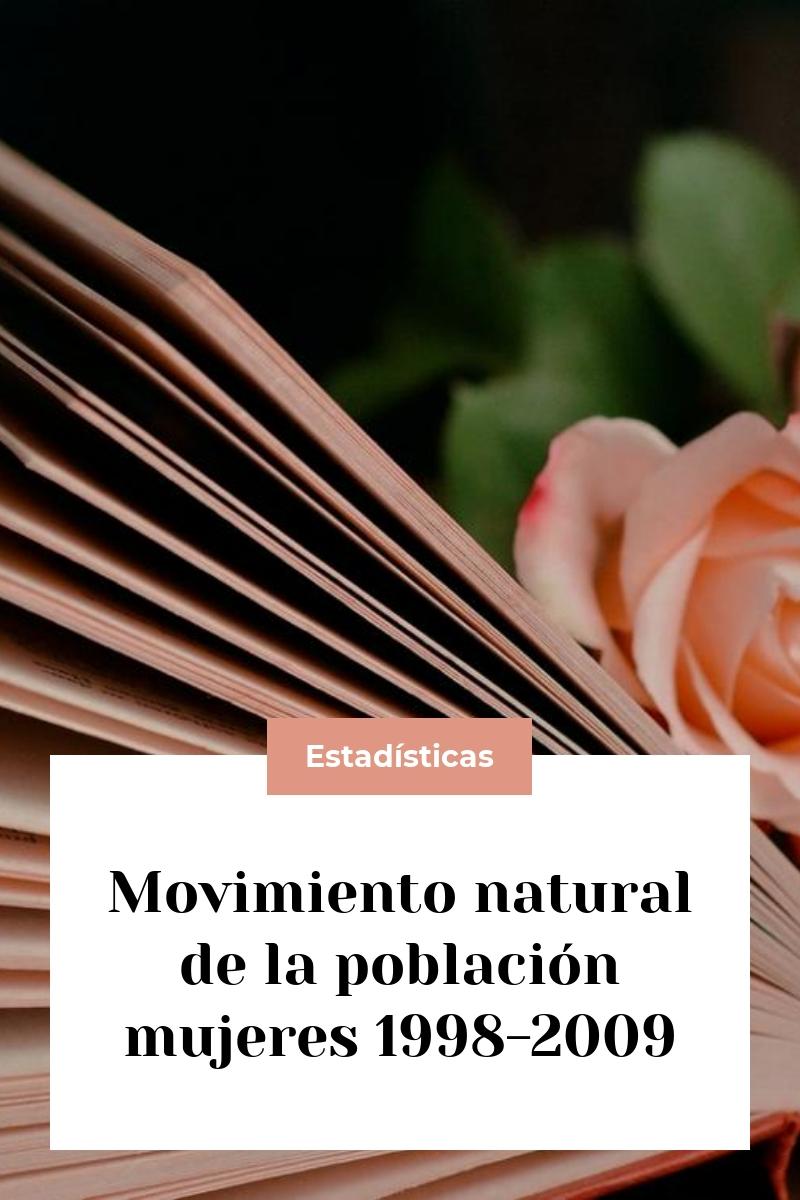 Movimiento natural de la población mujeres 1998-2009