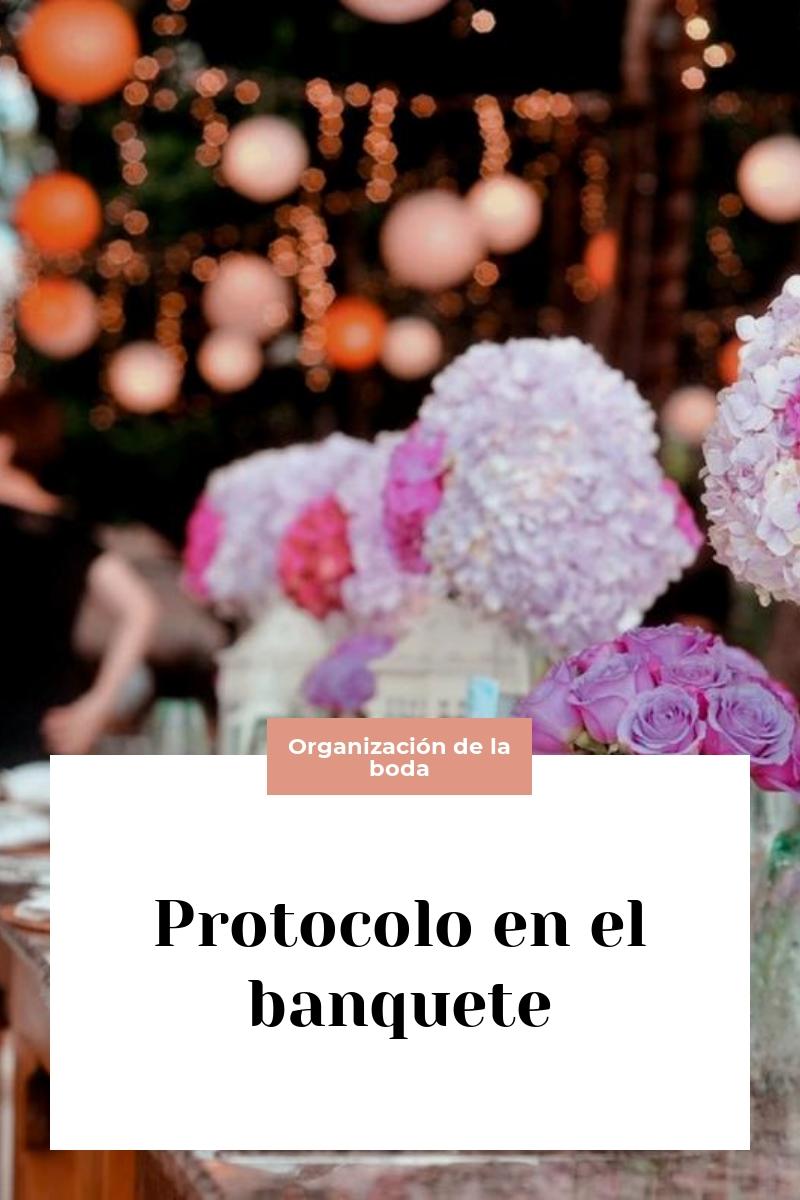 Protocolo en el banquete