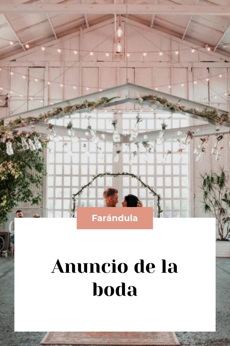 Anuncio de la boda
