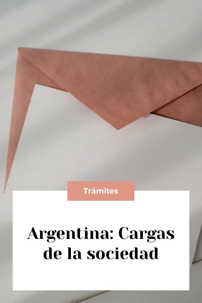 Argentina: Cargas de la sociedad