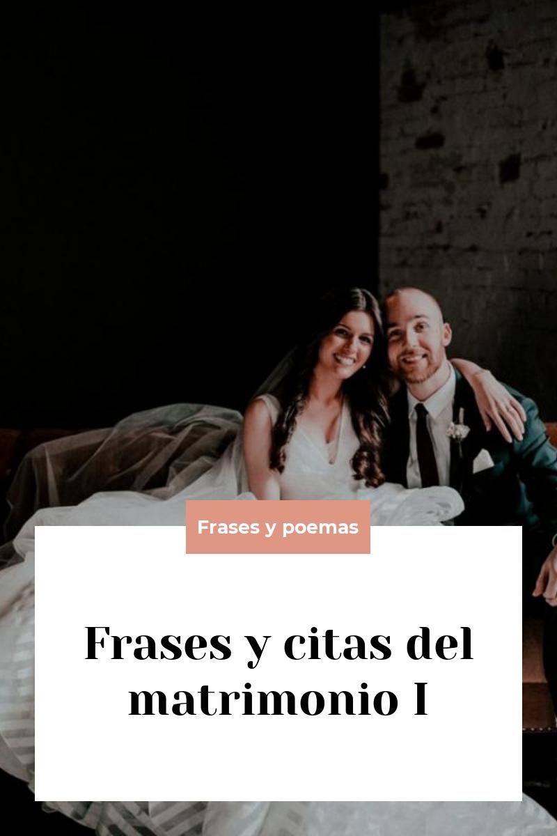 Frases y citas del matrimonio I