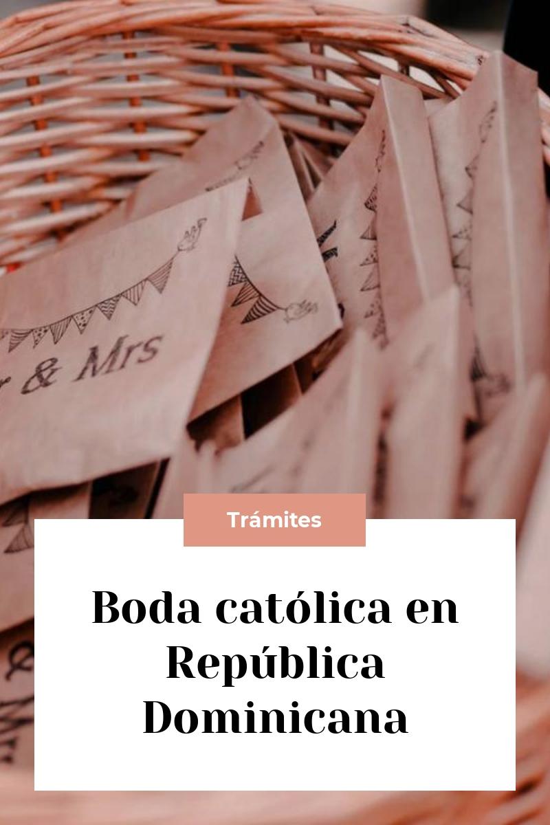 Boda católica en República Dominicana