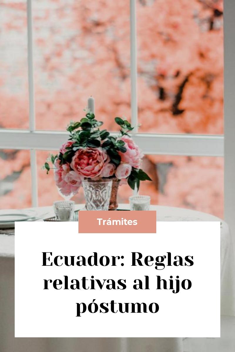 Ecuador: Reglas relativas al hijo póstumo