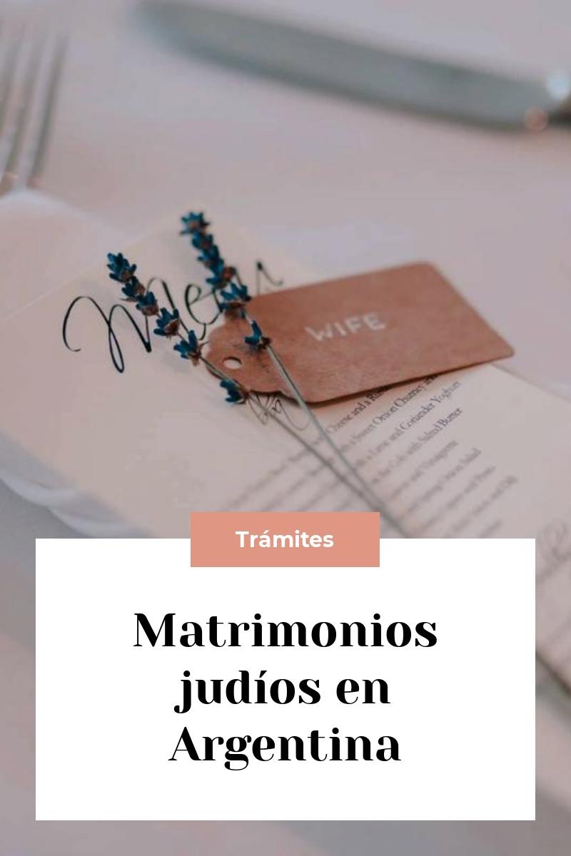 Matrimonios judíos en Argentina