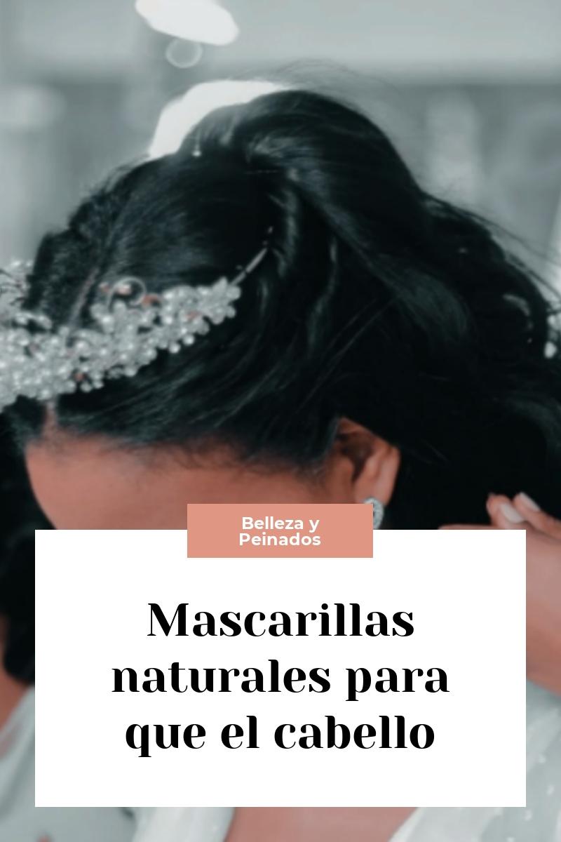 Mascarillas naturales para que el cabello