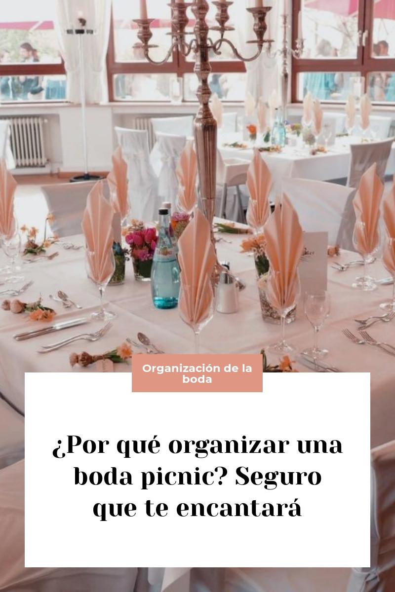 ¿Por qué organizar una boda picnic? Seguro que te encantará