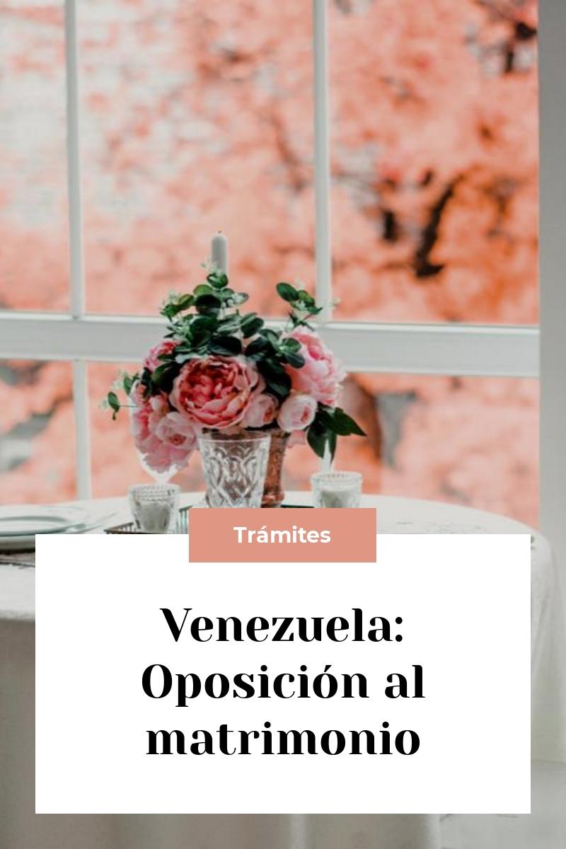 Venezuela: Oposición al matrimonio